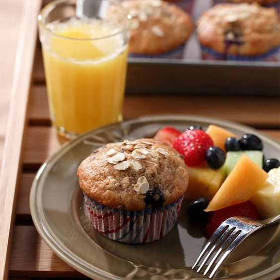 Yum! Blueberry Oatmeal Lentil Muffins from Cookspiration by DietitiansCAN