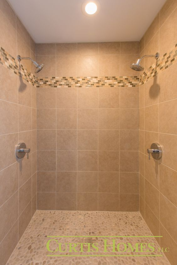 Double Shower Head Hoodriver Builder Curtishomes Bathroom Designs Pin
