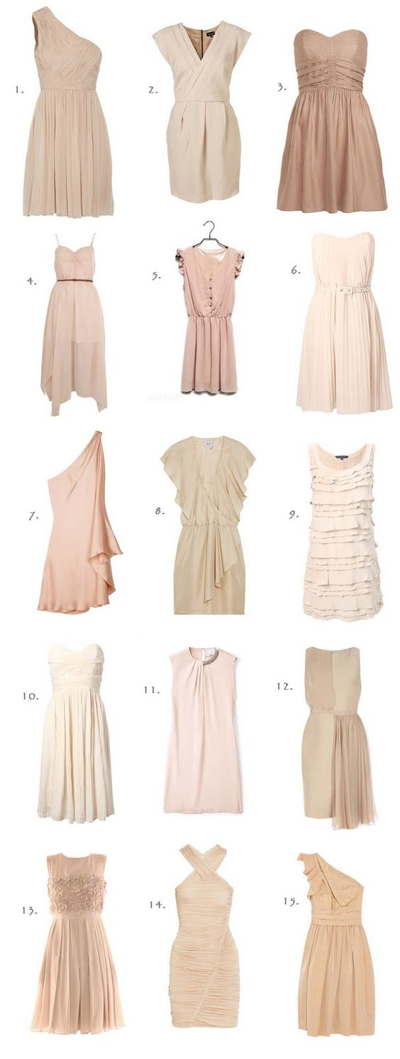 Love the Color!: Neutral Dress, Nude Dress, Neutral Bridesmaid, Wedding Bridesmaid, Mismatched Bridesmaid
