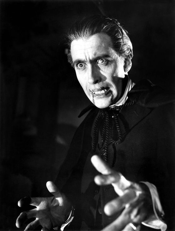 """Christopher Lee as the Count in """"Horror of Dracula"""" (1958)"""