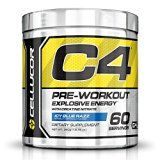Cellucor C4 Pre Workout Supplements with Creatine Nitric Oxide Beta Alanine and Energy 60 Servings Icy Blue Razz 13.75 Oz (390 g)
