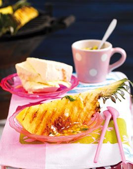 Grillananas mit Passionsfrucht-Sirup