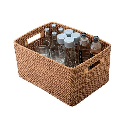 Kouboo Rectangular Rattan Storage Basket
