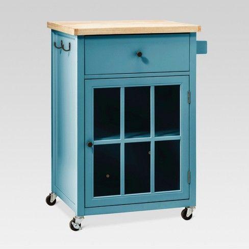 Windham Wood Top Kitchen Cart Threshold Target Kitchen Tops