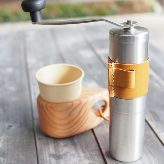 ポーレックスコーヒーミル革カバー コーヒーミル ライトブラウン キッチン小物