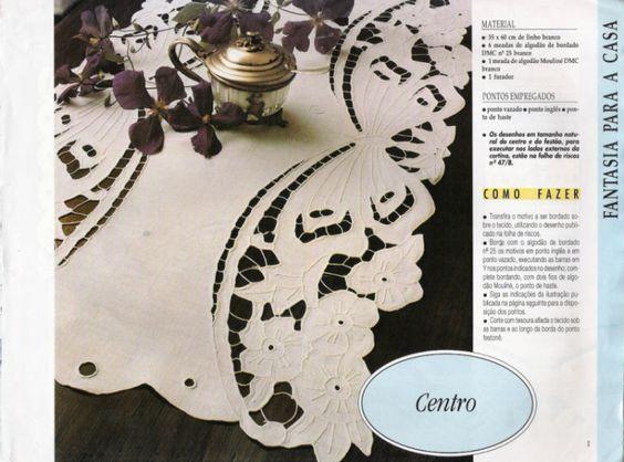 Lene Richelieu e Bainha Aberta: Álbum de bordado vazado encontrado na net