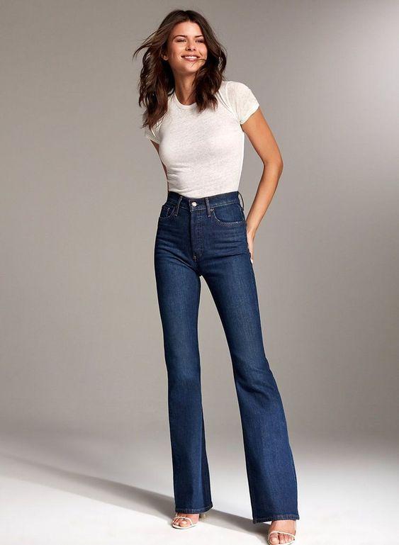 Nice 45 Best Ideas To Wear Flared Jeans