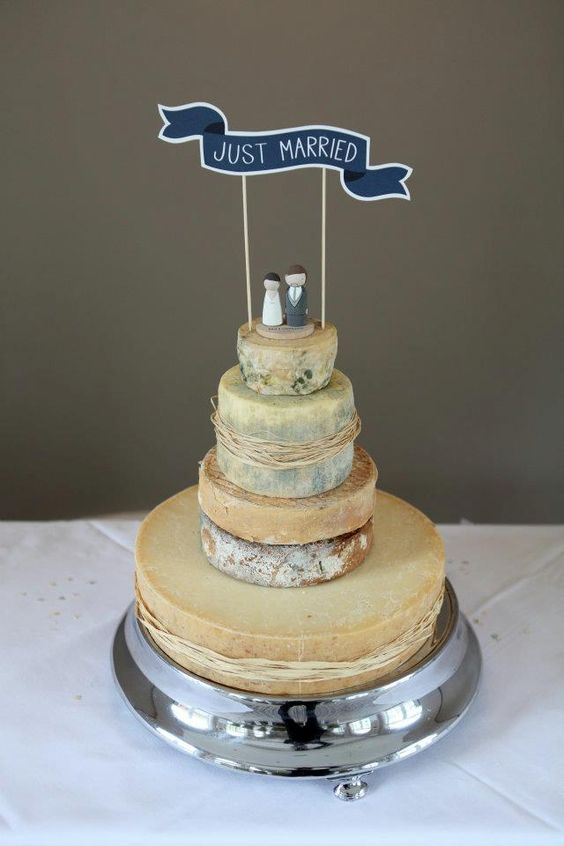 Cheese tower wedding cake, yum!: