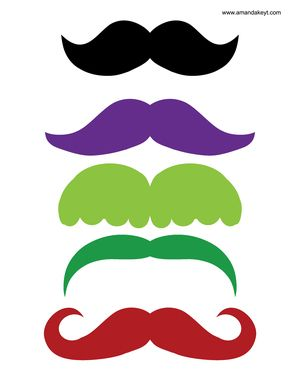 Mustaches from Toy Story Inspired Printable Photo Booth Prop Set