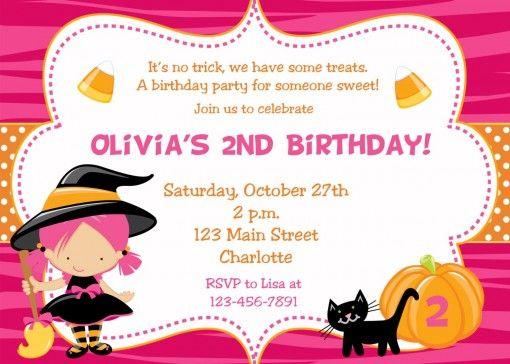Halloween Birthday Party Invitations for halloween birthday ...