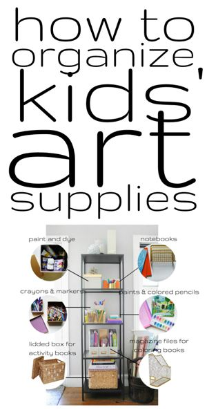 how to organize kids 39 art supplies coloring belle and art supplies. Black Bedroom Furniture Sets. Home Design Ideas