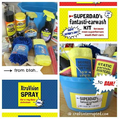 Craft, Interrupted: Father's Day Carwash Kit w/ printable labels