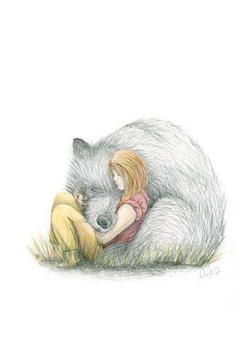 Image of Bear Hug - Framed or Unframed Print. Sally Winter, winter avenue press: