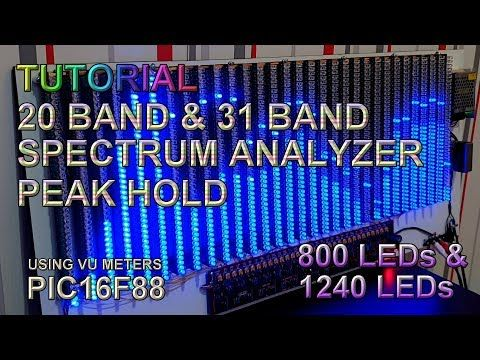 Tutorial 20 31 Bands Spectrum Analyzer Pic16f88 Youtube In 2020 Spectrum Analyzer Spectrum Electronics Projects Diy