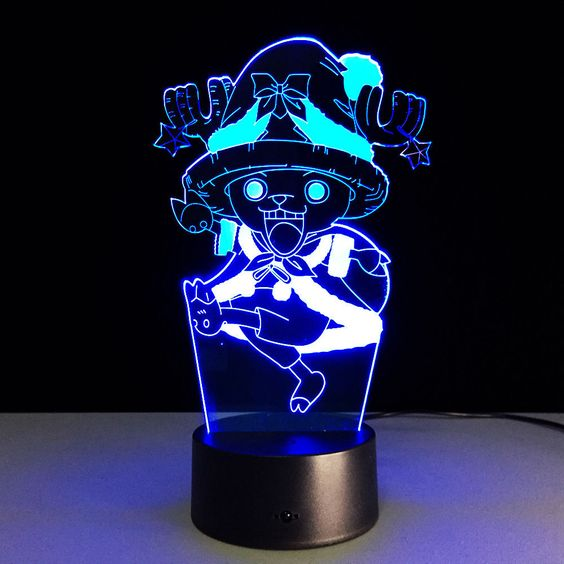 Anime One Piece Chopper Desk Light Decorative Lantern 3d Acrylic Led Table Lamp Unbranded Luminaria
