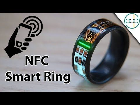 Making An Nfc Enabled Smart Ring With Tritium And Forged Carbon Fiber Youtube Smart Ring Rings Mens Wedding Rings Black