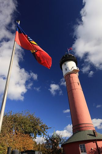 The old lighthouse of the island Wangerooge.