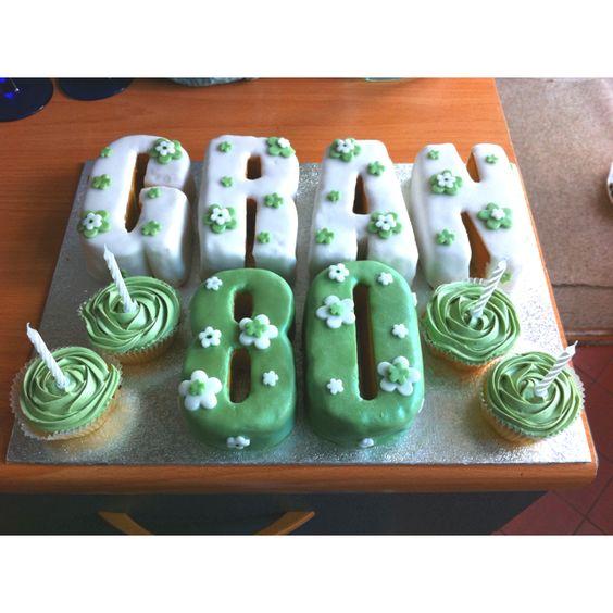 Gran 80th birthday cake