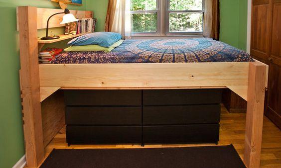 beds for children loft bed plans and queen size on pinterest. Black Bedroom Furniture Sets. Home Design Ideas