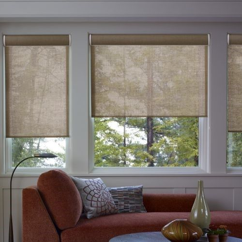 Home Depot Has Cordless Solar Roller Shades With Small Valance