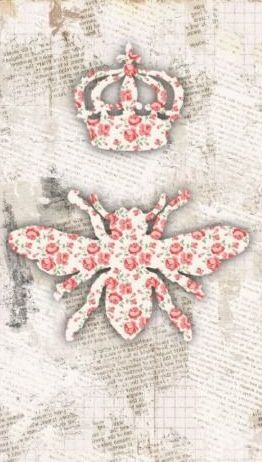 Vintage Shabby Queen Bee Business Card