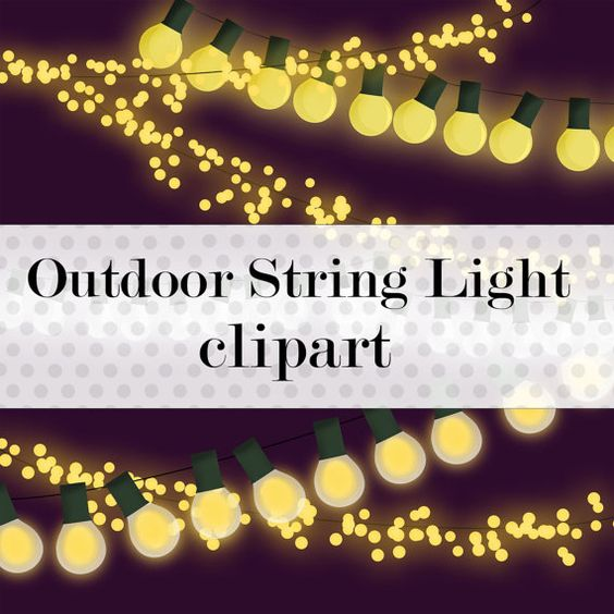 Outdoor String Lights With Clips : Commercial Use Instant Download Lantern String Clipart Graphics- Instant Digital Download ...