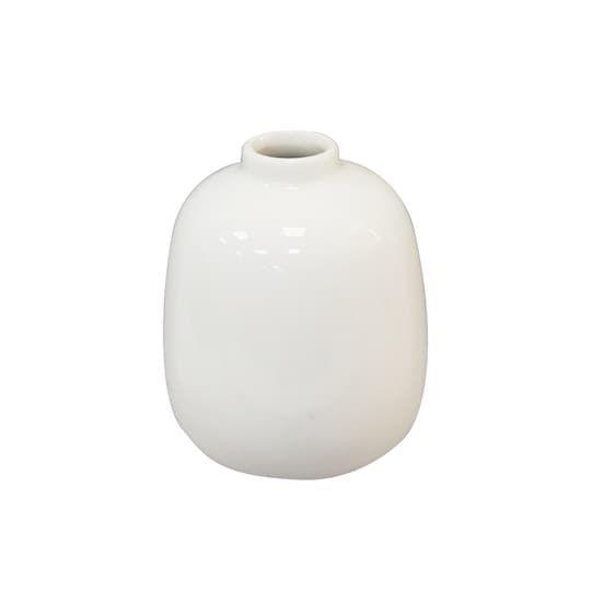 3 82 White Ceramic Bud Vase By Ashland Bud Vases White