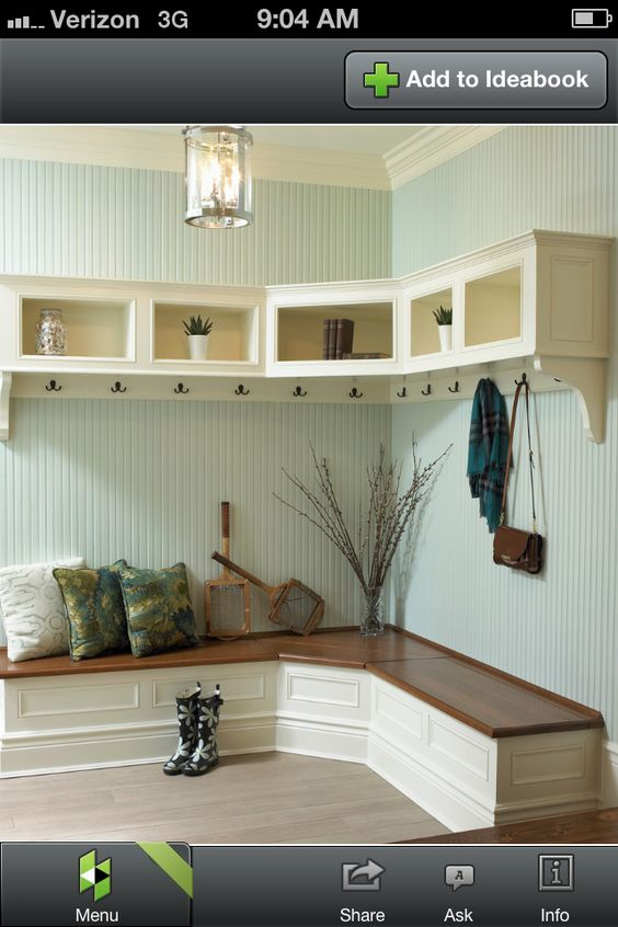 Mudroom Bench Idea Love This Wall Color Too Home