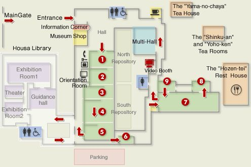 Tokugawa Art Museum, Nagoya. Floor plan.