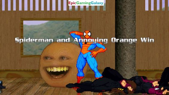 Spider-Man And The Annoying Orange VS Gambit And Prime Sentinels In A MUGEN Match / Battle / Fight This video showcases Gameplay of Spider-Man The Superhero And The Annoying Orange VS Gambit The Superhero And Prime Sentinels In A MUGEN Match / Battle / Fight