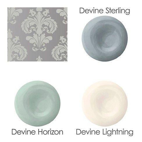 Devine Color Chantilly Peel Stick Wallpaper Gray Silver Wallpaper Bathroom Peel And Stick Wallpaper Best Paint Colors