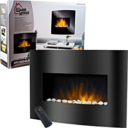 @Overstock - Bring the beauty and warmth of a fireplace to your living space with this stunning Black Arched Glass Panel Electric Fireplace by Warm House. Now you'll be able to stay cozy and enjoy all the positive effects of a fireplace.http://www.overstock.com/Home-Garden/Warm-House-Black-Arched-Glass-Electric-Fireplace/6796699/product.html?CID=214117 $215.99