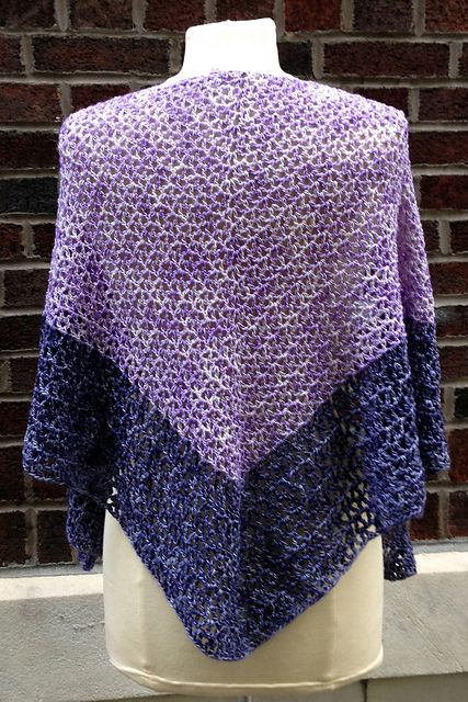 Ravelry: Very Violet Vees pattern by Dana Freed