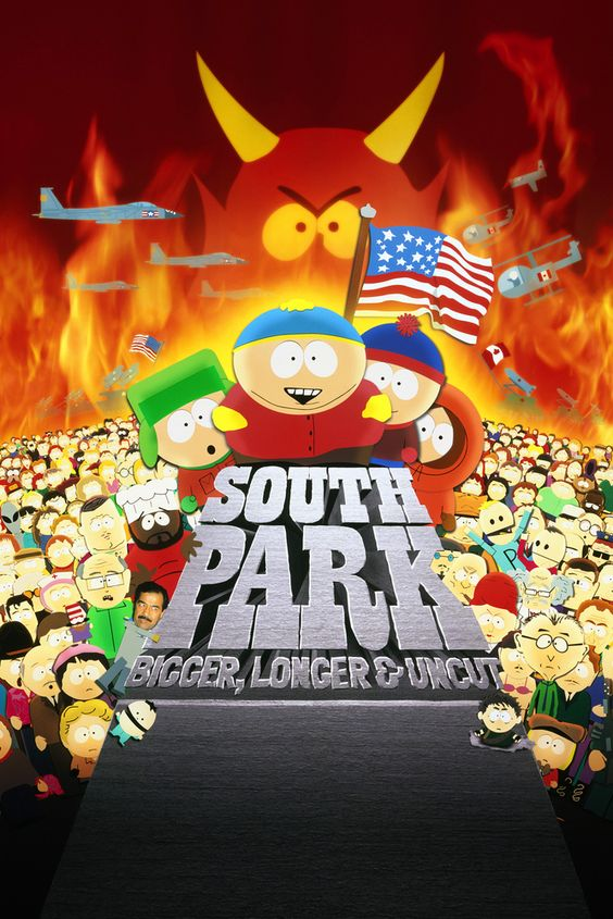 South Park: Bigger, Longer & Uncut Movie Poster - Trey Parker, Matt Stone, Mary Kay Bergman  #SouthPark, #Bigger, #LongerUncut, #MoviePoster, #Comedy, #TreyParker, #MaryKayBergman, #MattStone