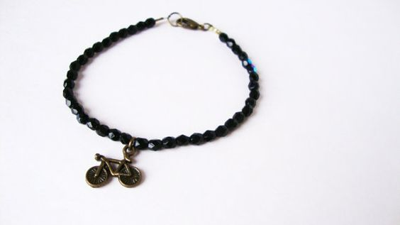 Bicycle Charm Bracelet by Lilac & Buttercup, $11.00 #handmade #jewelry