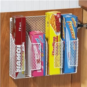 Love this idea for organizing foil, etc.  Especially if you don't have a drawer for it.