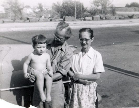 "Clark and Irene Wiley (with 1st ""surviving"" son) Parents of Susan ""Genie"" Wiley Feral Genie"