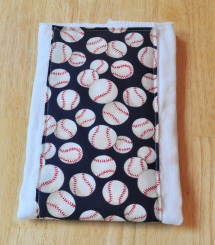 Baby Burp Cloth  Baseball Burping Pad  by CreativeQuiltsAndEtc, $5.00