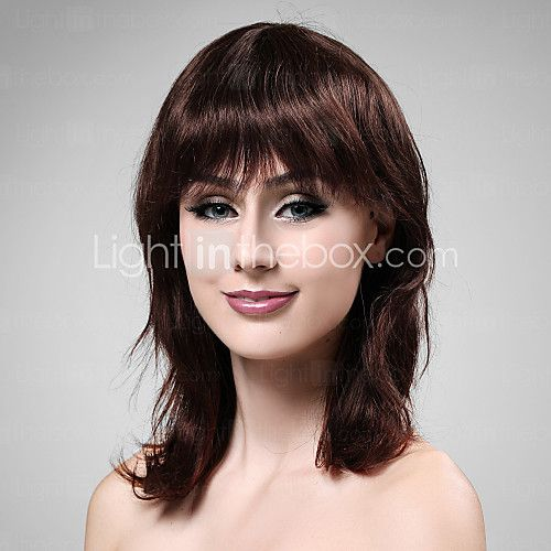 sin tapa de mediano a largo cabello 100% humano profundo vino peluca de pelo 2016 - $49201