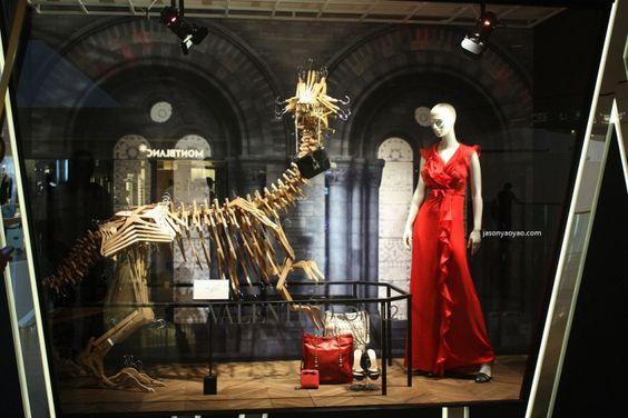 Harvey Nichols Jurassic Park windows, Hong Kong store design