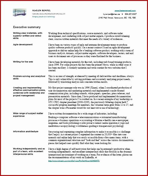 Technical Writer Resume Sample New Technical Writer Resume Sample India Resume In 2020 Resume Examples Summary Writing Executive Summary