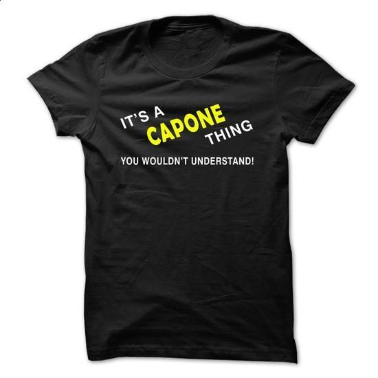 CAPONE thing. - #pretty shirt #tshirt projects. CHECK PRICE => https://www.sunfrog.com/Names/CAPONE-thing-zlzkb.html?68278