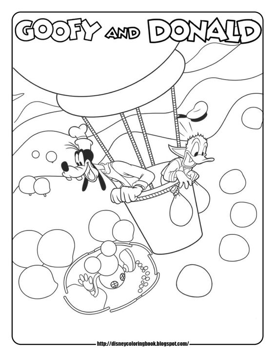 Mickey Mouse Clubhouse coloring pages | Activities for My ...