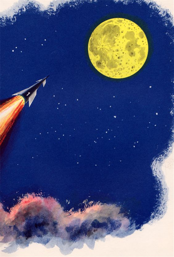 You Will Go to the Moon by Mae and Ira Freeman, illustrated by Robert Patterson (1959).: