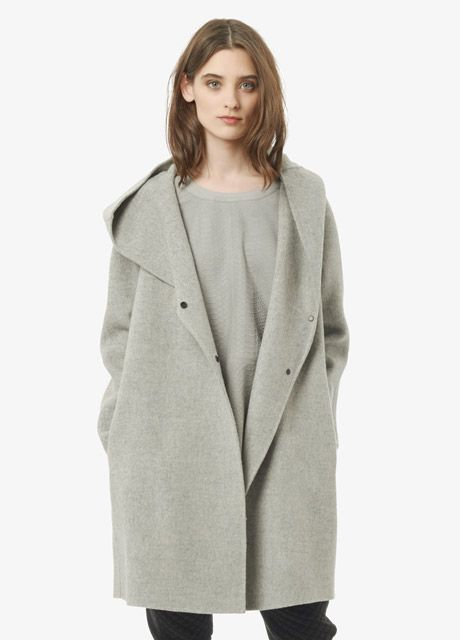 Hooded Wool Coat | Vince | style | Pinterest | Coats Metals and Wool