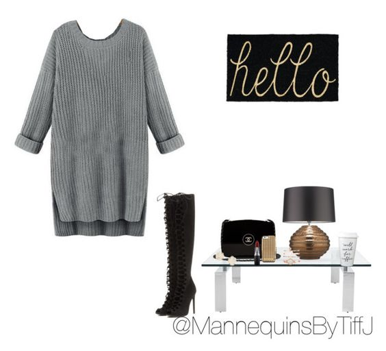 """Gray tiff j"" by prettyinpinktiffjay on Polyvore featuring Ralph Lauren Home, Chanel, Zoffany, Anne Klein, Kendra Scott, Rebecca Minkoff, MAC Cosmetics and Giambattista Valli"