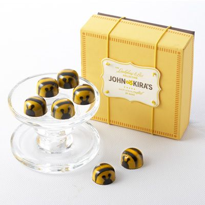 Not chewy like a store bought caramel, our bee chocolates have a liquid caramel center and a clear, caramelized honey taste.