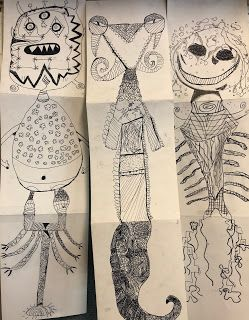 TNPS Student Artists: STAGE 2 - YEAR 3 and 4 EXQUISITE CORPSE
