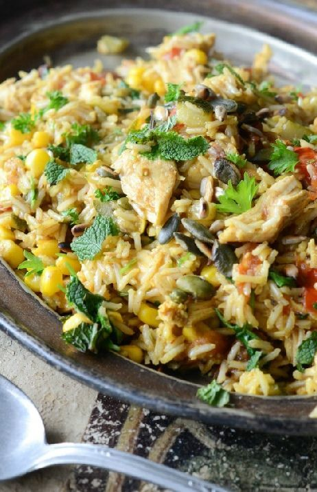 Low FODMAP and Gluten Free Recipe - Spring chicken paella  -   http://www.ibssano.com/low_fodmap_recipe_spiring_chicken_paella.html