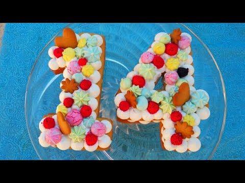 حلوى الارقام نامبر كيك Number Cake موضة حلويات اعياد الميلاد و المناسبات لسنة Gateau Tendance2018 Youtube Cake Food Breakfast